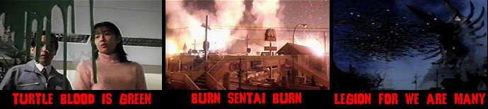 Gamera bleeds, Sentai burns, and Legion unlashes the hordes