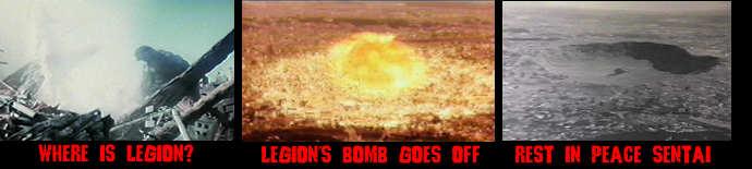 Legion causes atomic blast, Sentai is no more